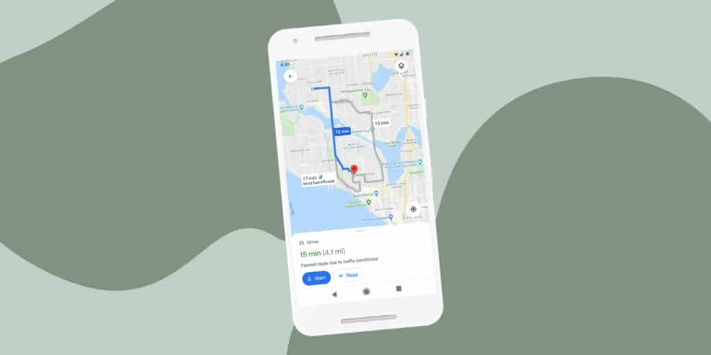 google maps eco-friendly navigation