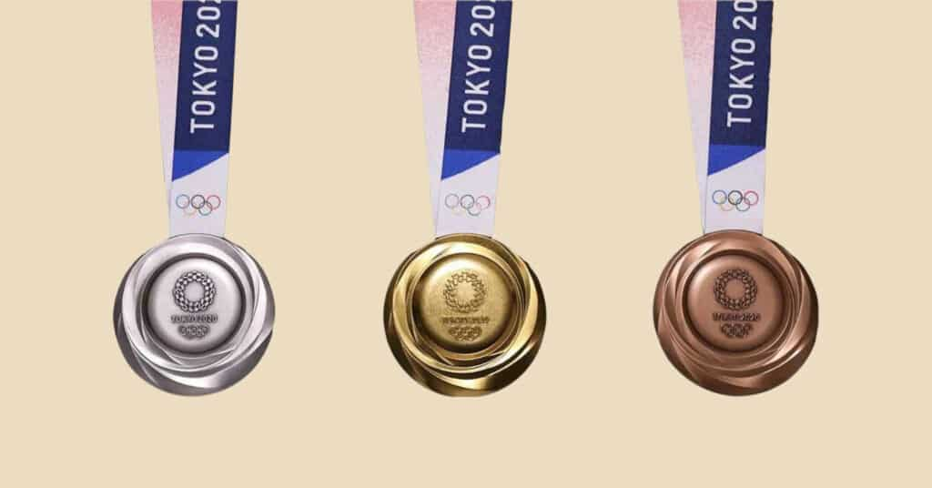 olympics recycled medals